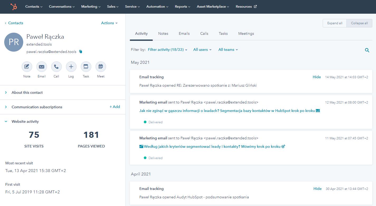 2_CRM wydajnie zorganizuje dane kontaktowe wszystkich klientów
